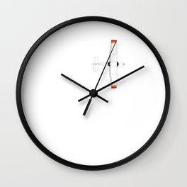 Pilot Airplane Heartbeat Aeroplane Pilot Birthday Gift design Wall Clock