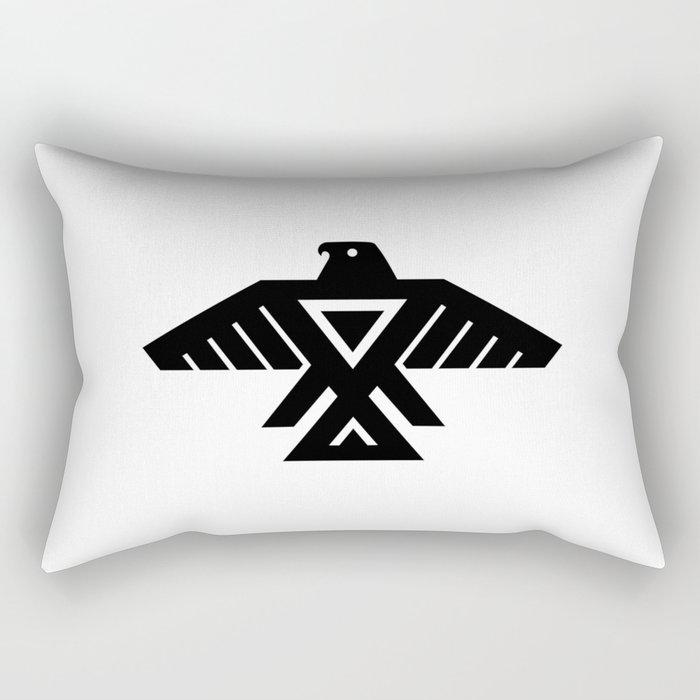 Native American Thunderbird Symbol Flag Rectangular Pillow By