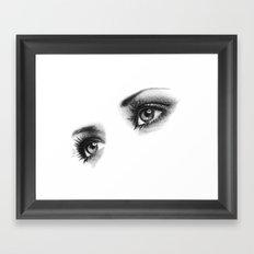Woman Eyes Framed Art Print