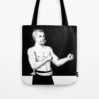 boxer Tote Bags featuring Boxer by Moose van Papendorp
