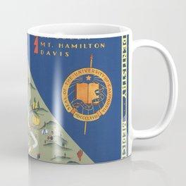 CALIFORNIA University map MAP Berkeley Coffee Mug