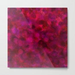 Purple Grape, Dragon Fruit, & Berry Dots Metal Print