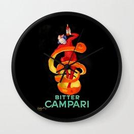 Leonetto Cappiello Bitter Campari Advertising Poster Wall Clock