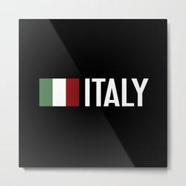 Italy: Italy & Italian Flag Metal Print