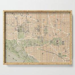 Vintage Map of Washington DC (1892) Serving Tray