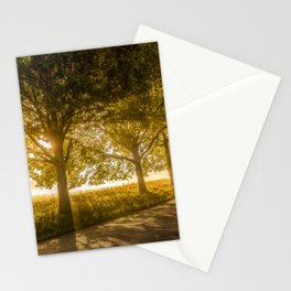 Rural Idyllic Country Road Sunset Stationery Cards