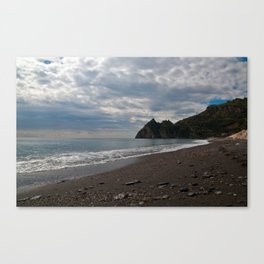 SICILIAN Beach of Forza d'Agro - location of The Godfather Canvas Print