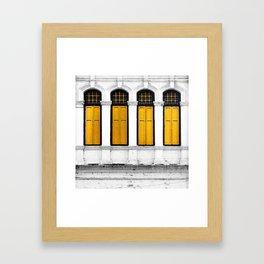 Open Thy Yellow Windows Framed Art Print