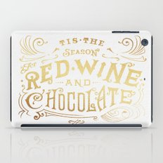 Tis the Season for Red Wine and Chocolate – White iPad Case