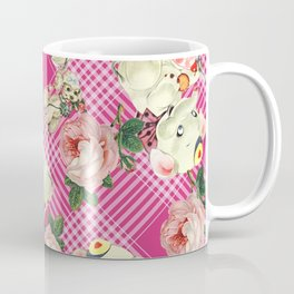 retro pets plaid pink Coffee Mug