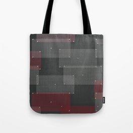 White and red circular grates Tote Bag