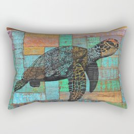 Nalukai Sea Turtle  Rectangular Pillow