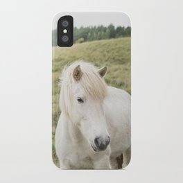 Icelandic Horse in Field iPhone Case