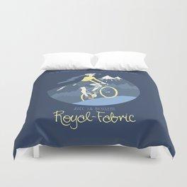 Avec la Bicyclette Duvet Cover