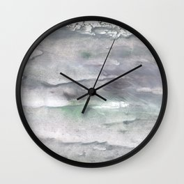 Dark gray watercolor Wall Clock