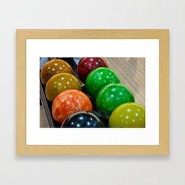 Bowling Balls Framed Art Print