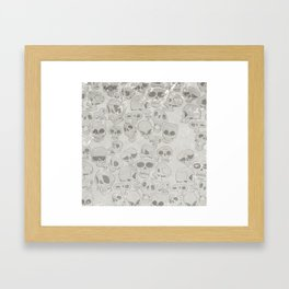Skulls Pattern Framed Art Print