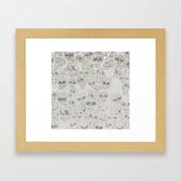 Skulls Pattern Framed Art Print