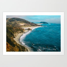 California Coastline Dreaming Art Print