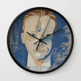 An Impression Of Young Winston Wall Clock