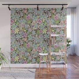 Succulent Pastel Wall Mural