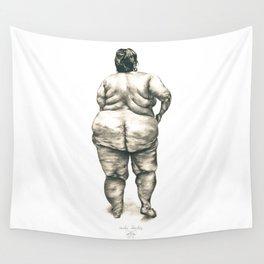 mujer en la ducha Wall Tapestry