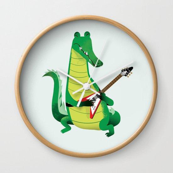 Crocodile Rock Wall Clock