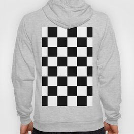 Large Checkered - White and Black Hoody