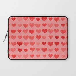 Pink Valentines Love Hearts Laptop Sleeve