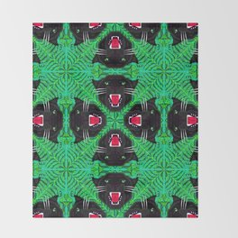 Tropical Gothic Pattern  Throw Blanket