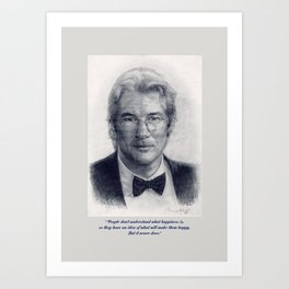 Art Portrait & Quote: Richard Gere Art Print
