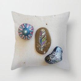 Pebble & Stone Art Throw Pillow