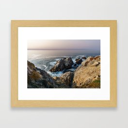 The Pacific Ocean at Sunset Framed Art Print