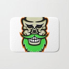Bearded Skull or Cranium Mascot Bath Mat