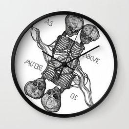 As Above So Below Macabre Wall Clock