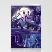 Stationery Cards featuring Never a Quiet Year at Hogwarts by Anne Lambelet