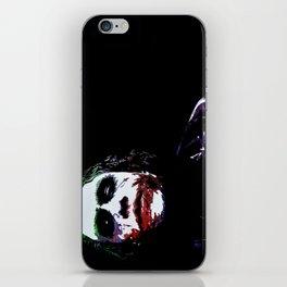 Heath's Joker Pop art Portrait iPhone Skin