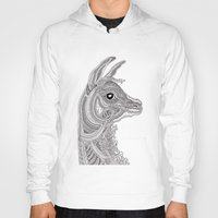 llama Hoodies featuring Llama by Olya Goloveshkina