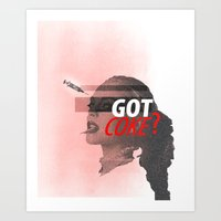 lindsay lohan Art Prints featuring Lindsay Lohan - Got Coke? by RinRin