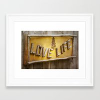 philosophy Framed Art Prints featuring Simple Philosophy by Kimberley Britt
