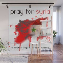 Pray for syria Wall Mural