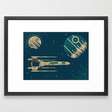 Star Wars Throwback Framed Art Print