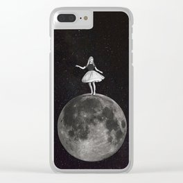 Over The Moon Clear iPhone Case