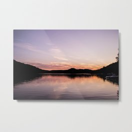 Sunset in the Laurentides, Canada Metal Print