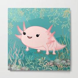 Axolotl baby kawaii Metal Print