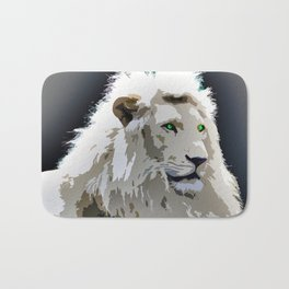 White Lion Bath Mat