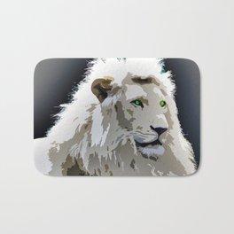White Lion Bath Mat