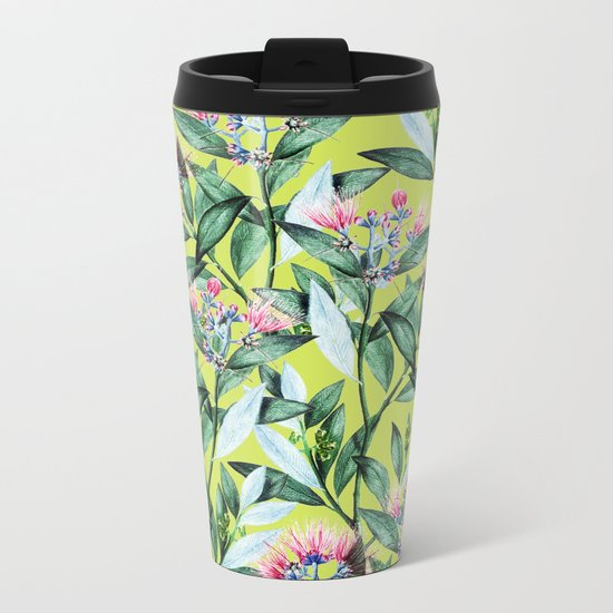Floral Cure #society6 #decor #buyart Metal Travel Mug