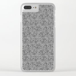 Line Texture, White Clear iPhone Case