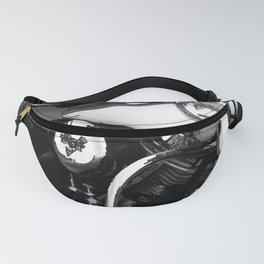 Vintage  Black & White HD Motorcycle Fanny Pack